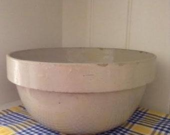 Large Mixing Bowl - Old  Farmhouse Antique Bowl No. 4