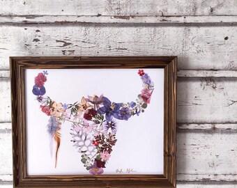Pressed Flower Buffalo Print