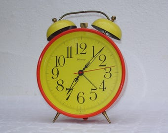 Great 70s. Blessing-West Germany alarm clock/clock/Wall Clock