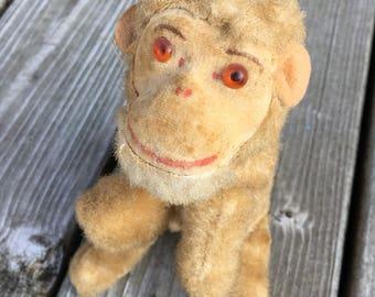 Vintage Monkey-Max Carl Toys- Wind Up Monkey- Free Shipping