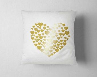 Little Hearts, Palm Pillow, Decorative Pillow 16x16, Home decor, Throw pillow, Heart sofa cushions, Heart Pillow