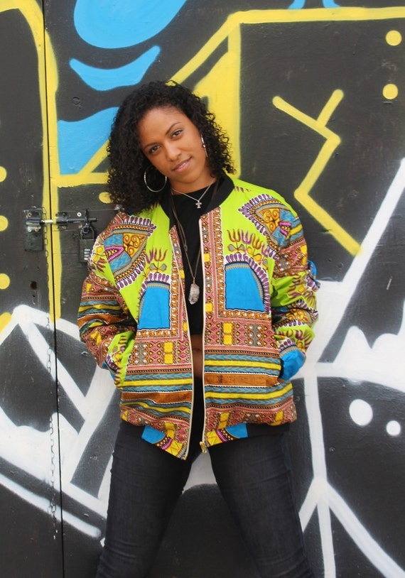 African Jacket - African Clothing - Dashiki Jacket - Dashiki Bomber jacket - Ankara Clothing - Festival Clothing - Winter Jacket - c9CgYO