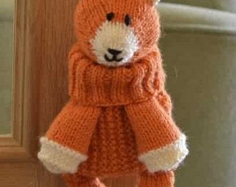 Fox Bag Knitting Pattern, Fox Backpack Knitting Pattern, Fox Gift Pattern