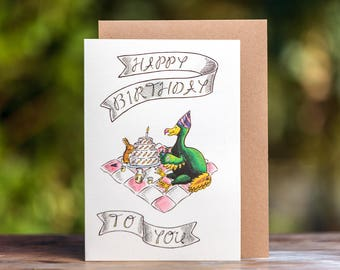 Birthday Card- Dodo and Rabbit
