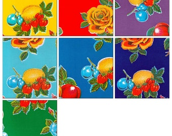 OilclothByTheYard Lemons and Roses By The Yard You Select the Color