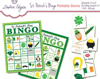 St. Patrick's Day BINGO Printable Game, Instant Download
