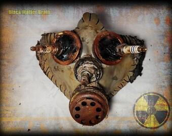 Postapocalyptic Half mask-baby gas mask-spark plug-wasteland Warrior