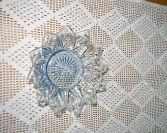 Glass tile, blue serving bowl