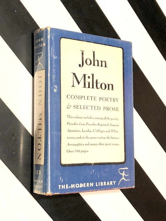 The Complete Poetry and Selected Prose of John Milton (1950) Modern Library hardcover book