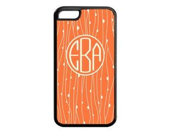 Aztec Custom Cell Phone Case. Monogram Cell Phone Case. Coral and White Cell Phone Case. Iphone Case. Samsung Galaxy Case. Ipod Case.