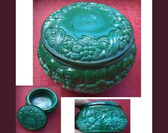 Malachite box, Round Glass Malachite box, Malachite Jewelry Box, video here - https://youtu.be/sx_YjfPZUTo