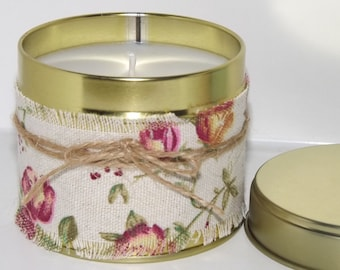Freesia Scented Soy Container Candle.