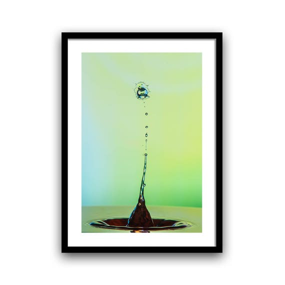 Bedroom Artwork, Fine Art Photography, Bedroom Wall Decor, Water Drop Photography, Bedroom Art, Water Drop Art, Droplet Photography, Droplet