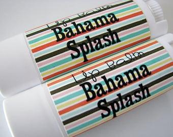 Bahama Splash Flavor - Vegan Lip Balm - Natural Lip Butter  -  Tropical Flavor - Bath and Beauty  -Home and Living