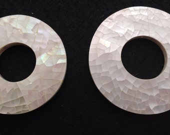 Vintage Mother of Pearl Mosaic Donuts