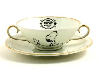 Snoopy Woodstock The Peanuts, Porcelain Soup Cereal Ice Cream Bowl, Keep Looking Up That's The Secret, Altered Comic Strip Charles M. Schulz