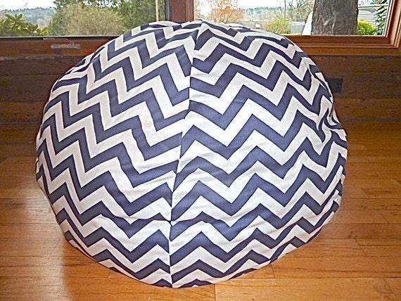 Grey White Chevron Bean Bag Chair Cover Silver Gray Red Yellow Blue Black Pink Orange Zig Zag Stripes Etsy Kids Gift Under 75