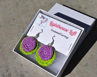 Groovy Crocheted Earrings