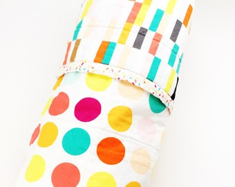 Baby Quilt, Bright Colourful Quilt, Baby Bedding, Handmade Quilt, literie enfant, Ice Cream Theme, Baby Shower Gift, Baby Play Mat