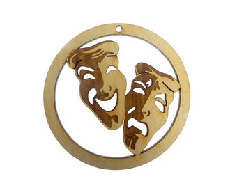 Comedy and Tragedy Ornament - Theater Ornament - Theater Ornaments - Theatrical Ornament -Theater Gifts - Cast Party Gift -Personalized Free