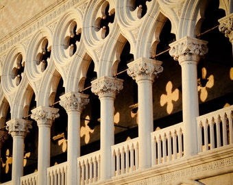 Venice Photography - Doge's Palace - Saint Mark's Square - Italian Photography - Italy Photo - Venetian Gothic - Architecture - Columns