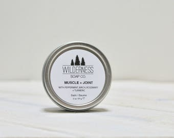 Muscle + Joint Balm, Natural Muscle Balm, Vegan Muscle Balm, Handmade Muscle Balm