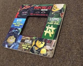 LEGO (TM) Ninjago Inspired Comic Themed Square Decoupage Picture Frame