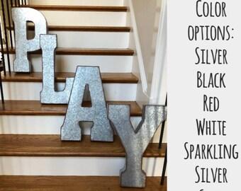 wall letter etsy. Black Bedroom Furniture Sets. Home Design Ideas