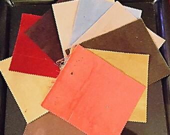 Fabric sample scraps