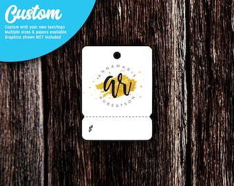 Tear Off Price Tags | Hang Tags | Custom Tags | Jewelry Tags | Favor Tags | Personalized Hang Tags | Tear Off Tab Hang Tags | SH230