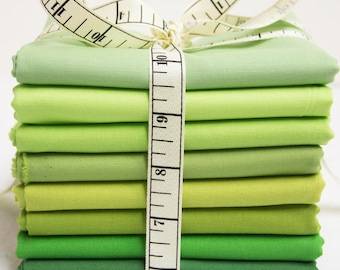 Moda Bella Solids Fabric Bundle - Green