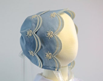 The Holly Blue Baby Girl Summer Bonnet