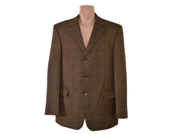 Men Wool Blazer Sport coat Mens Vintage Formal blazer Suit blazer Gents jacket Made in Italy Virgin Wool Silk AwIKgwys