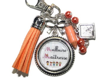 Key chain, centerpiece best bag charm, tassel