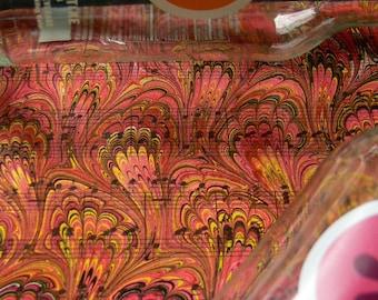 Fuchsia Peacock - handmade marbled sheet music