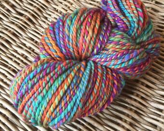 Colourful love II. - handspun merino twoplied yarn