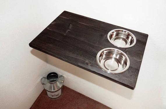 Wall Mount Cat Food Bowls Raised Feeding Station Feeder