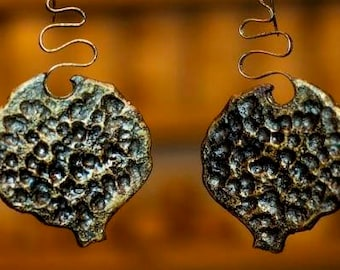 pomegranate armenia earring unique bronze handmade armenian brand fashion  gold