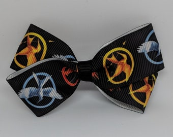 Hunger Games Ribbon Hair Bow with Clip