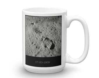 Footprint on the Moon-- Ceramic Mug