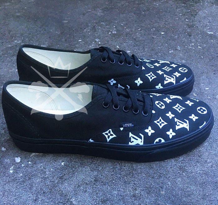 custom vans authentic shoes