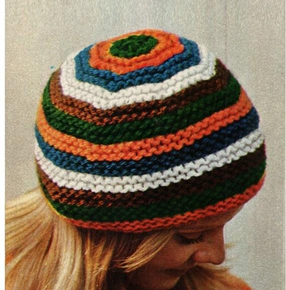 Patron pdf de tejido en crochet para sombrero gorro en agujas