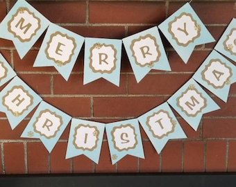 3d MERRY CHRISTMAS BANNER-Say anything, perfect for window or fireplace decor. Any color and any saying.