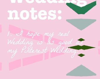 Wedding Notes A5 Lined Notebook and 'I Said Yes' Pencil Gift Set