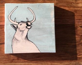 Original Artwork: Stag on Plywood
