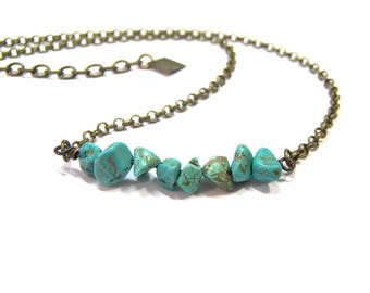 Turquoise Beaded Choker Necklace Top Selling Jewelry Boho Choker Necklace Gift for Women Layer Necklace Bead Choker the best selling jewelry