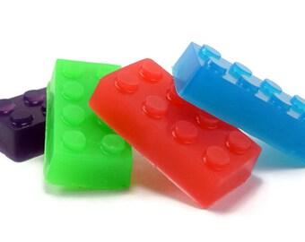 Brick Shaped Soap, Building Block Soap, Party Favor, Small Kids Soap