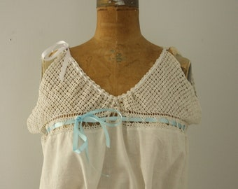 1900s corset cover   vintage edwardian camisole