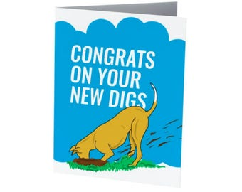 CONGRATS on your NEW DIGS |  new home card