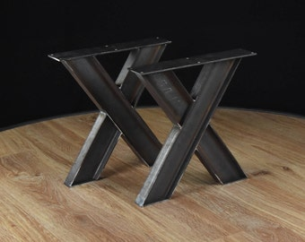 Coffee table pedestals, Coffee table base, Steel coffee table, v coffee table legs, Industrial Table Legs SET of 2